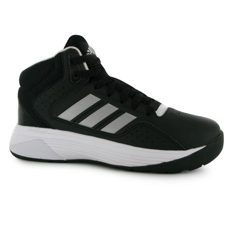 Boty adidas Isolation Mid Top Basketball Shoes Black/Silv/Wht