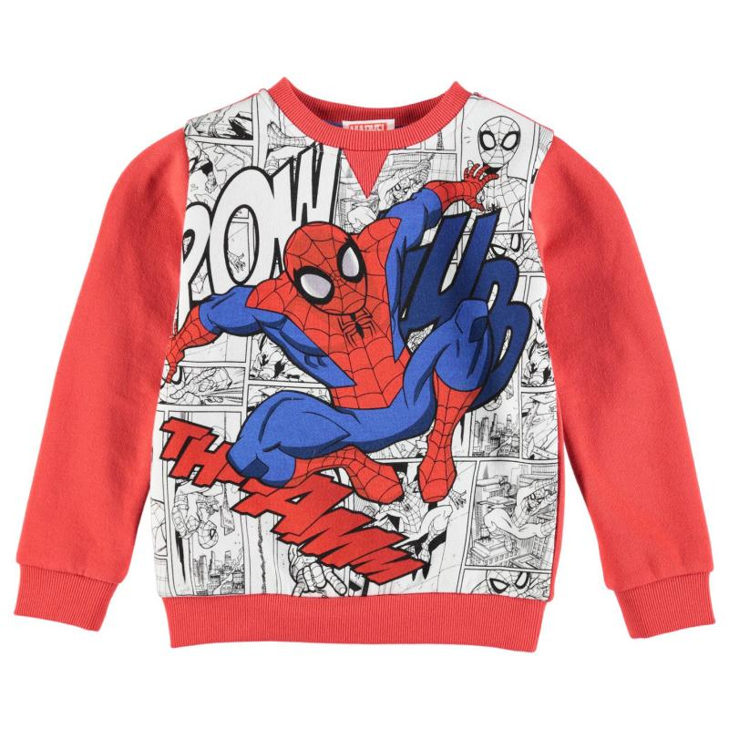 Character Crew Sweater Infant Boys Spiderman