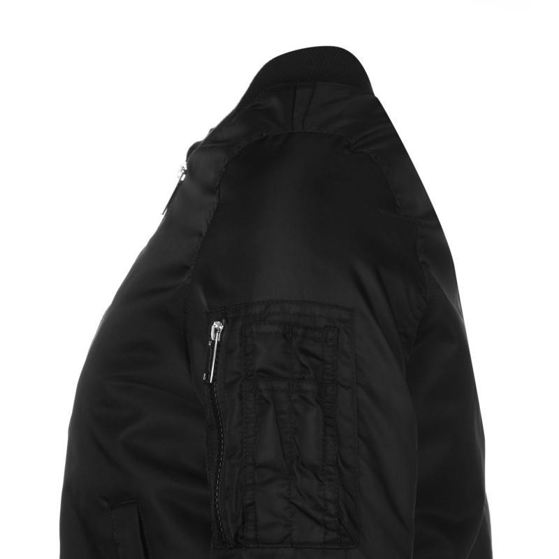 Bunda Rock and Rags Bomber Jacket Black