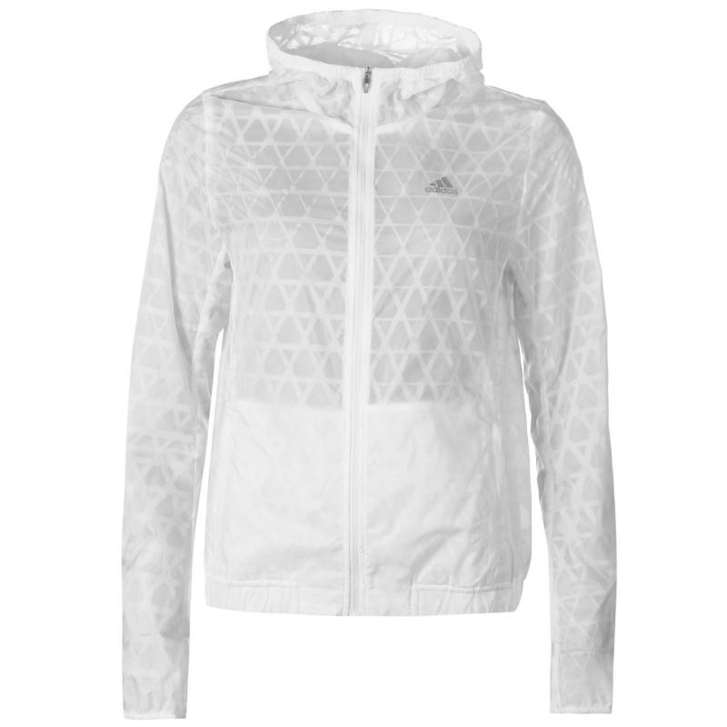 Bunda adidas Run Transparent Jacket Ladies White, Velikost: 12 (M)