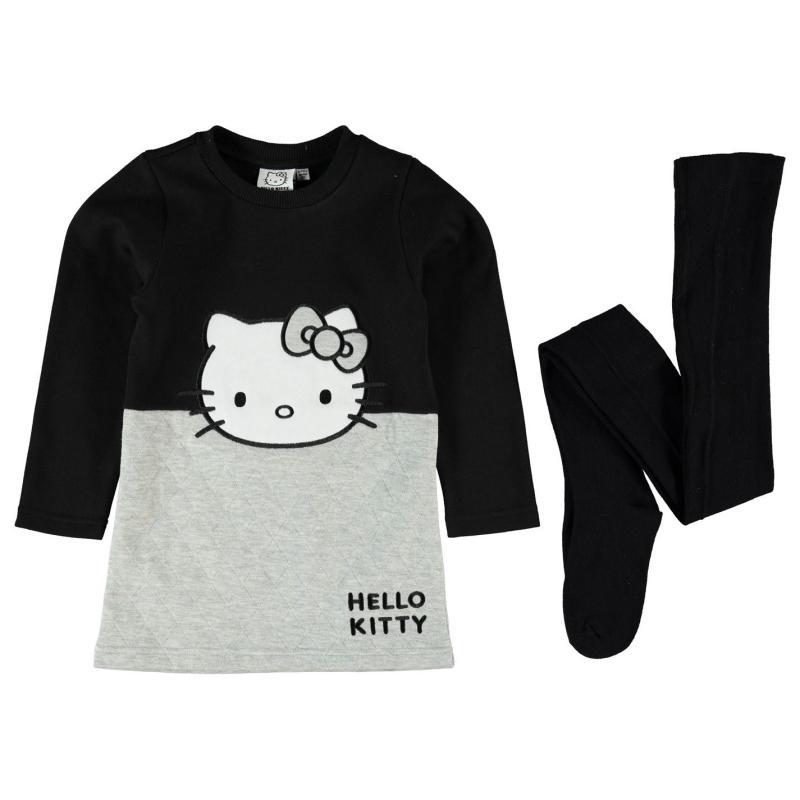 Šaty Character Fleece Dress Set Infant Girls Hello Kitty
