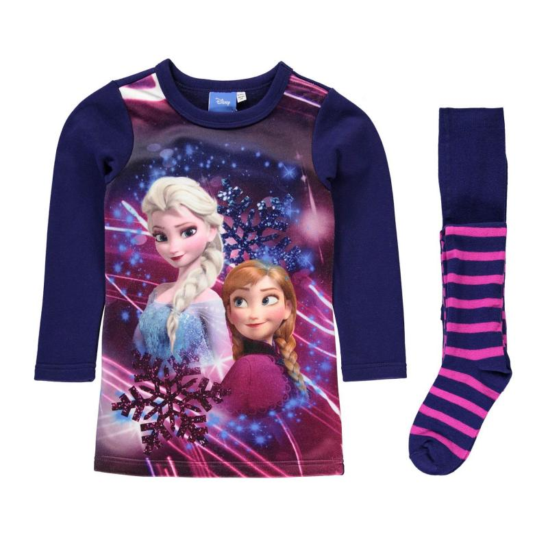 Šaty Character Fleece Dress Set Infant Girls Disney Frozen