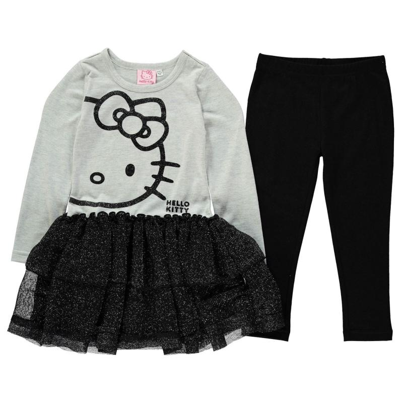 Šaty Character Frill 2 Piece Set Infant Girls Hello Kitty