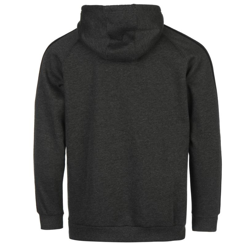 Mikina Lonsdale OTH Hooded Top Mens Black/Charcoal