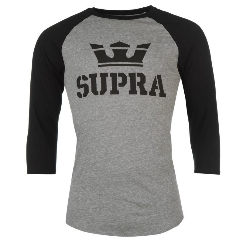 Tričko Supra Above T Shirt Grey/Black, Velikost: XL