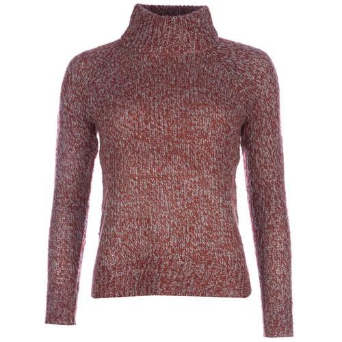 Svetr Vero Moda Womens Camille Funnel Neck Knit Jumper Red
