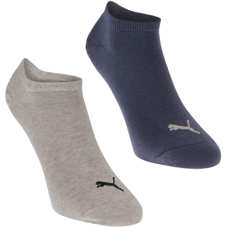 Ponožky Puma 2 Pack Trainer Socks Mens Grey