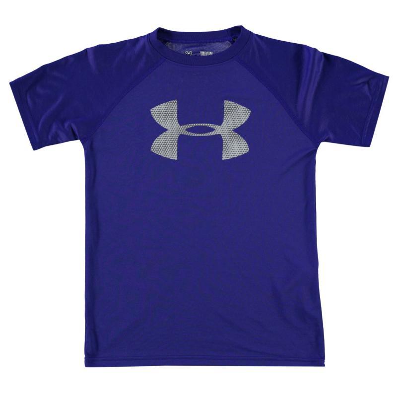 Tričko Under Armour Big Logo Solid T Shirt Junior Boys Blue