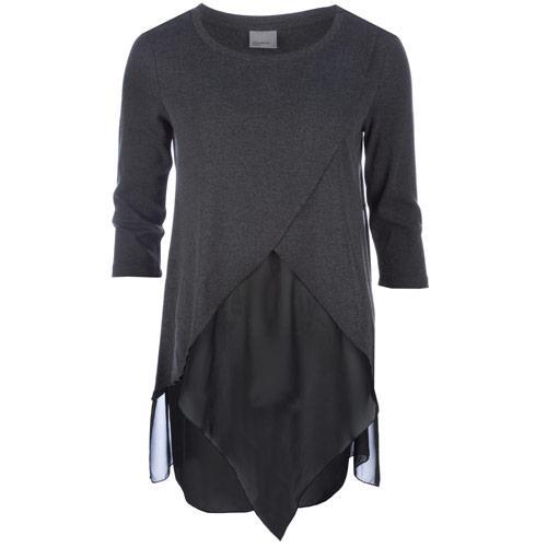 Svetr Vero Moda Womens Janouk Three Quarter Top Grey
