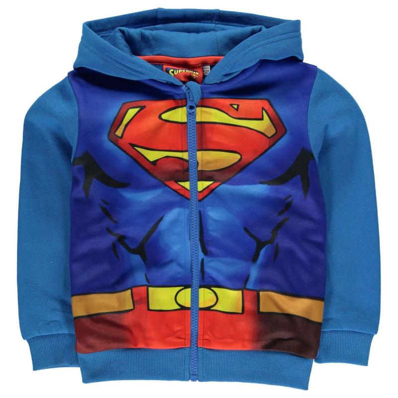 Mikina Character Zip Hoody Infant Boys Superman