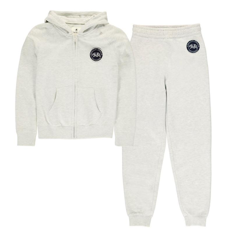SoulCal Signature Jogging Bottoms Junior Girls Grey Marl