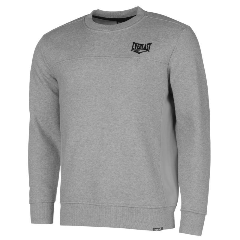 Mikina Everlast Crew Sweater Mens Grey Marl