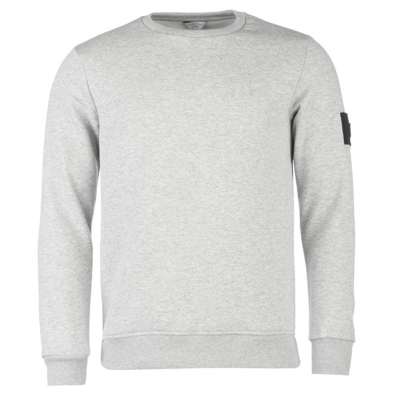 Mikina Jack and Jones Aaron Crew Sweater Light Grey