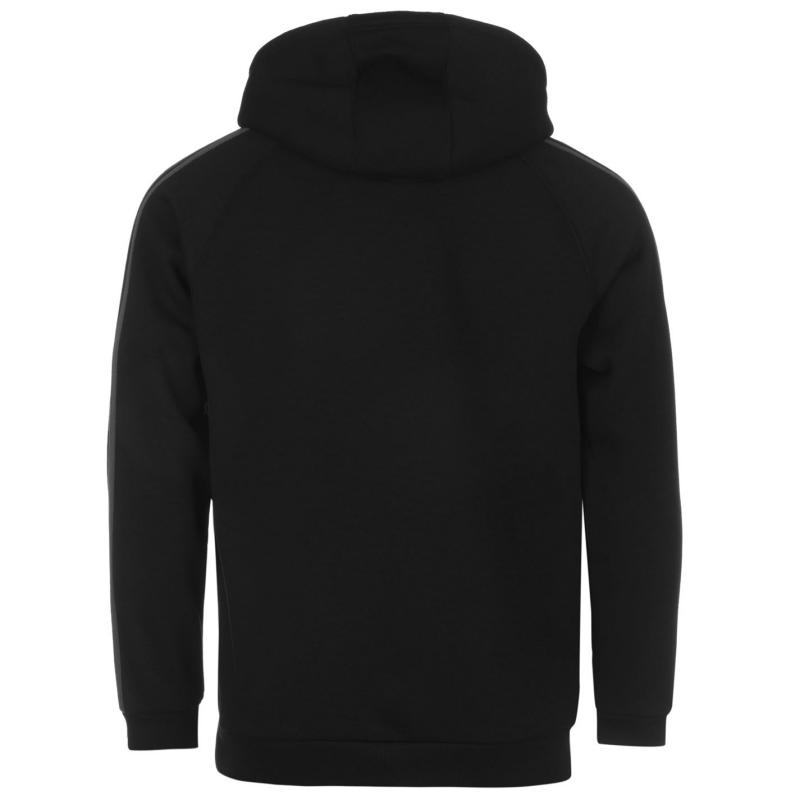 Mikina Lonsdale Full Zip Hoodie Mens Black/Charcoal