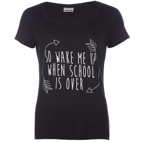 Vero Moda Womens Wake Me Up T-Shirt Black