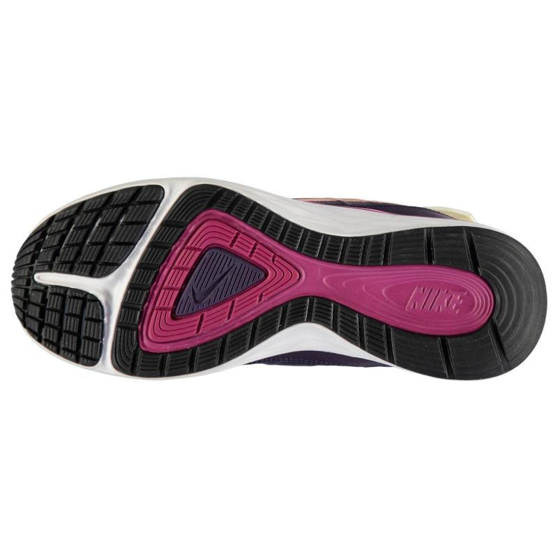 Nike Dual Fusion X2 Girls Trainers Purple/BronzRed, Velikost: UK4 (euro 37)