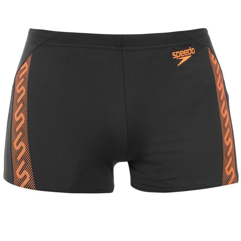 Speedo Monogram Aqua Shorts Mens Black/White