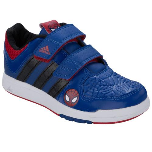 Boty Adidas Children Boys LK Spiderman Trainers Royal Blue, Velikost: C11 (euro 29)