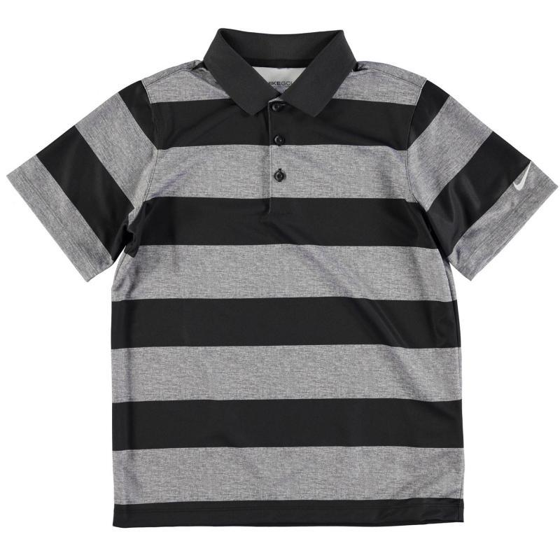 Nike Bold Stripe Golf Polo Junior Boys Black, Velikost: 9-10 let (MB)