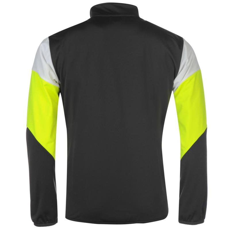 Puma Polyester Tracksuit Mens Charcoal/Yellow
