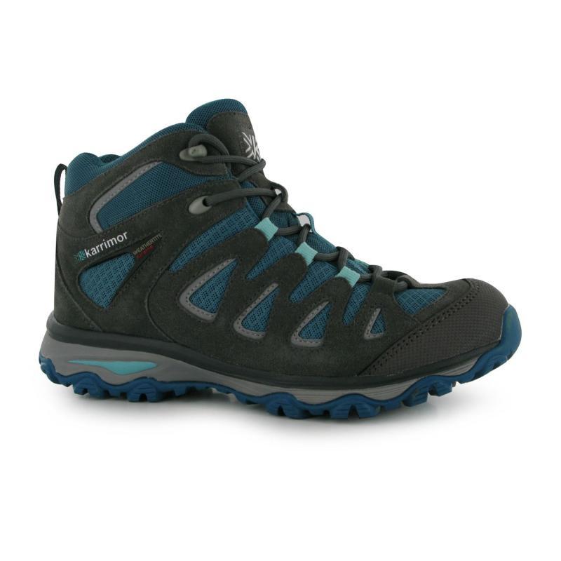 Boty Karrimor Border Mid Ladies Walking Boots Grey/Teal, Velikost: UK6 (euro 39)