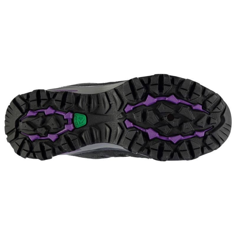 Boty Karrimor Border Mid Ladies Walking Boots Charcoal/Purple, Velikost: UK6 (euro 39)