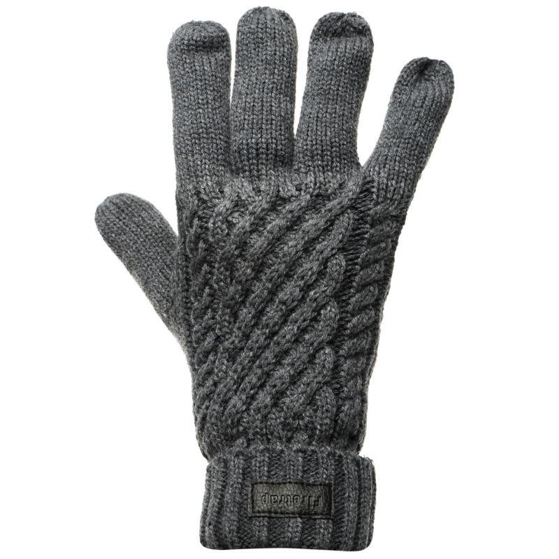 Firetrap Vent Gloves Mens Charcoal