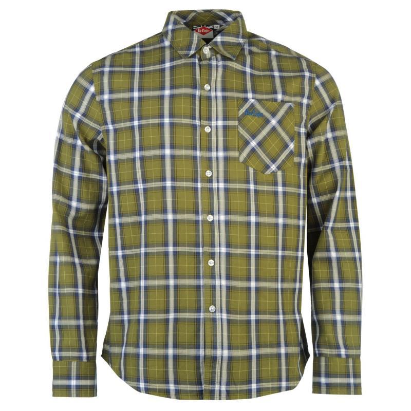 Košile Lee Cooper Hayes Long Sleeve Shirt Mens Green