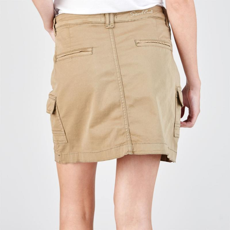 Šaty SoulCal Cargo Skirt Ladies Khaki