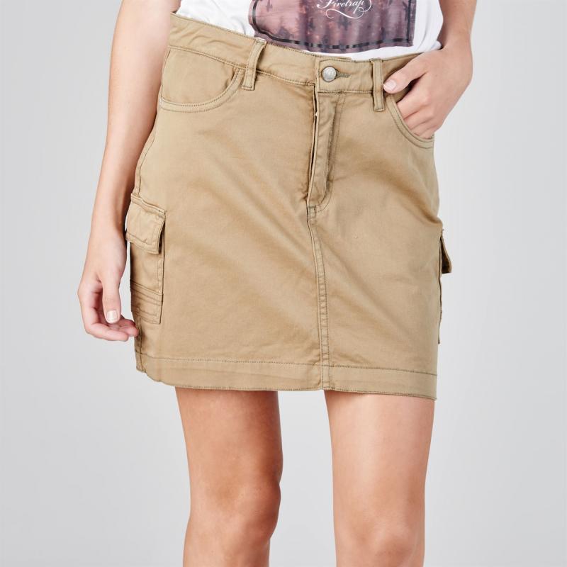 Sukně SoulCal Cargo Skirt Ladies Khaki