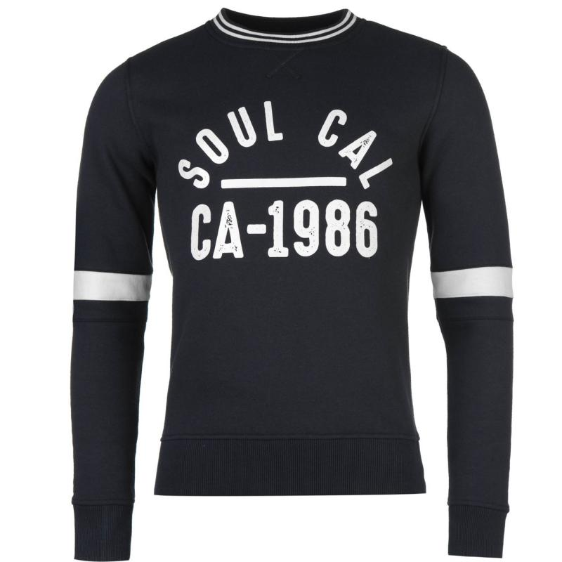 Mikina SoulCal Crew Sweater Navy