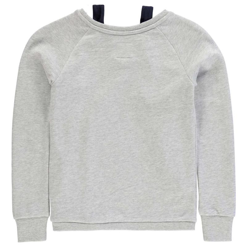 SoulCal Double Layer Sweater Junior Girls Grey Marl