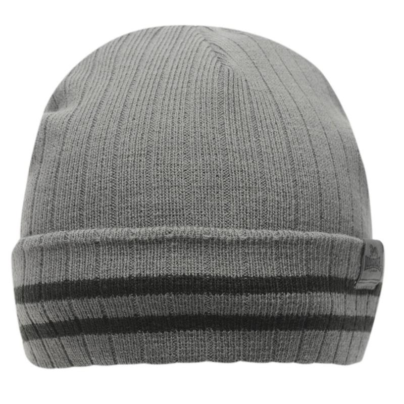 Lonsdale Turn Up Hat Mens Charcoal