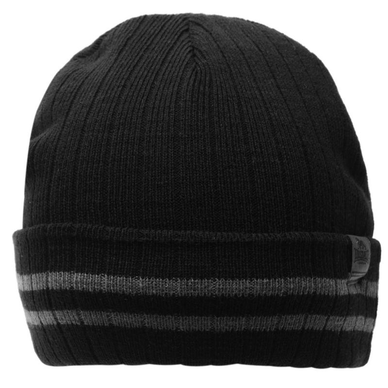 Lonsdale TurnUp Hat Jn 71 Charcoal