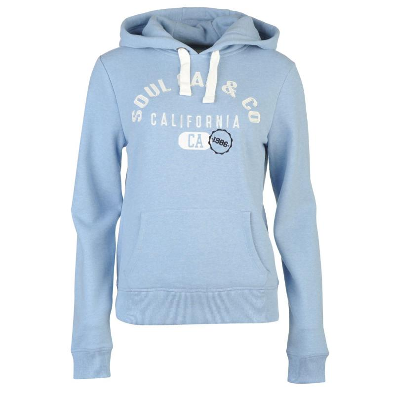 Mikina s kapucí SoulCal Over The Head Hoodie Pale Blue Marl