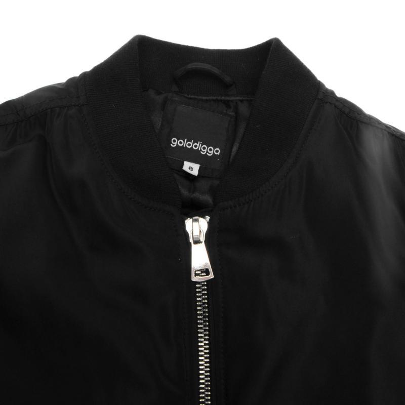Bunda Golddigga MA1 Bomber Jacket Ladies Khaki