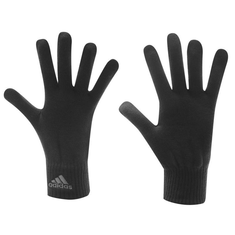 adidas Knit Mens Gloves Grey