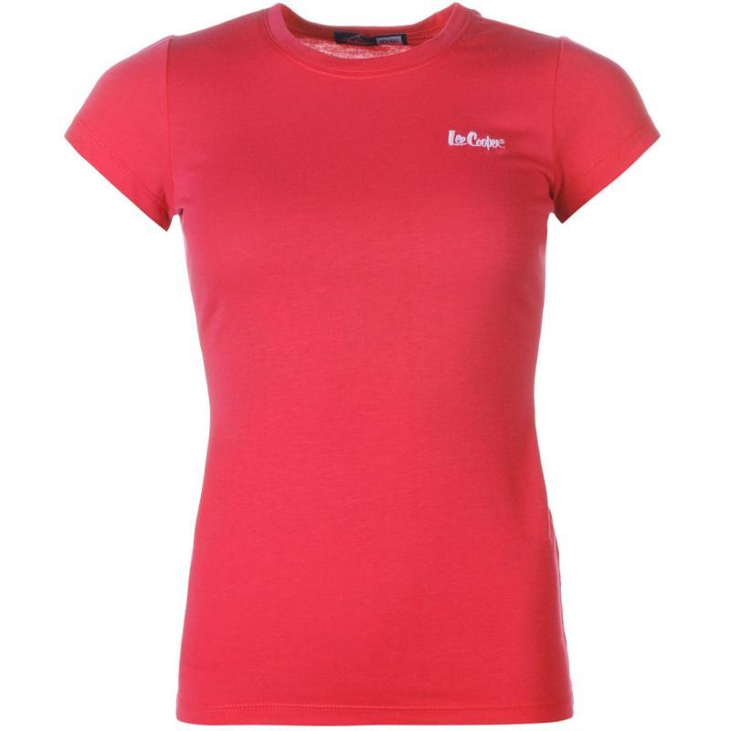 Lee Cooper Crew Neck T Shirt Ladies Red