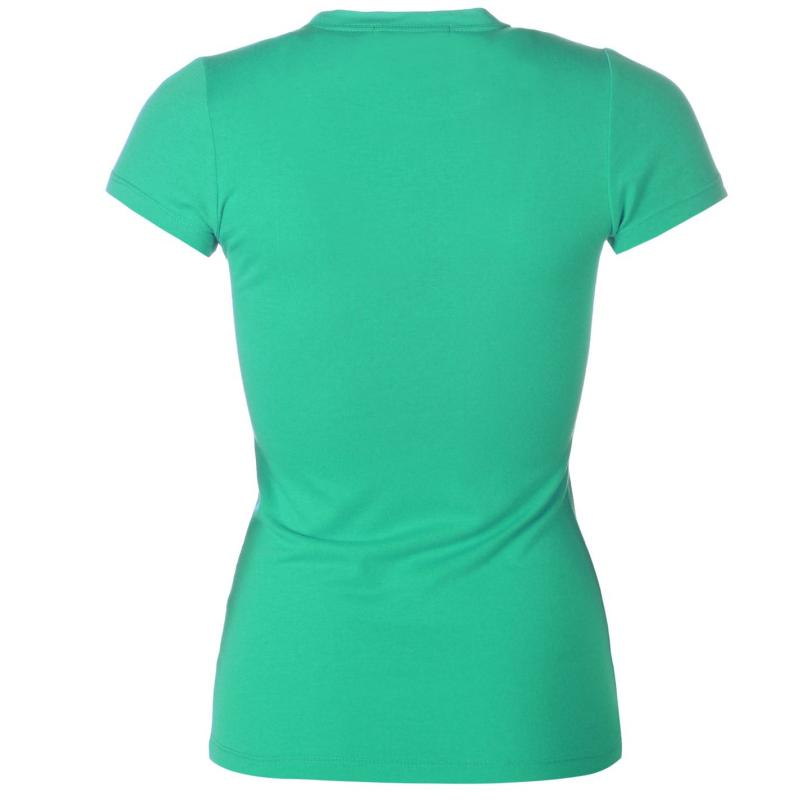 Lee Cooper Crew Neck T Shirt Ladies Green