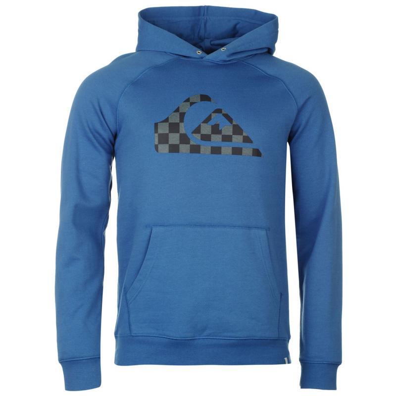 Mikina Quiksilver Check Logo Hoody Mens Blue, Velikost: S
