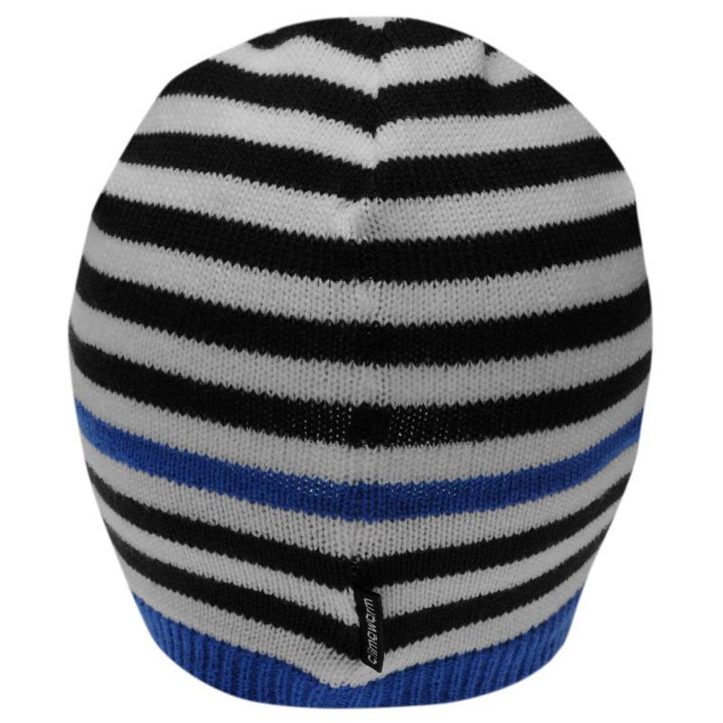 adidas Stripe Beanie Juniors Blue