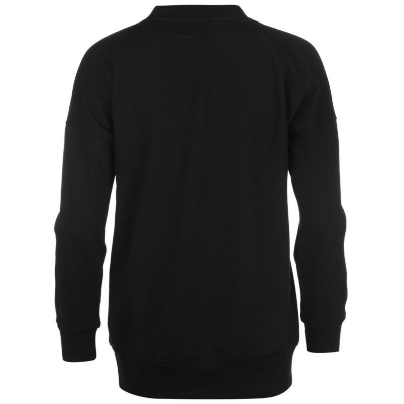 Svetr Golddigga Slogan Sweatshirt Ladies Glitter/Black