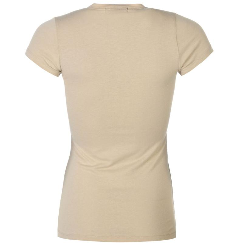 Lee Cooper Crew Neck T Shirt Ladies Khaki