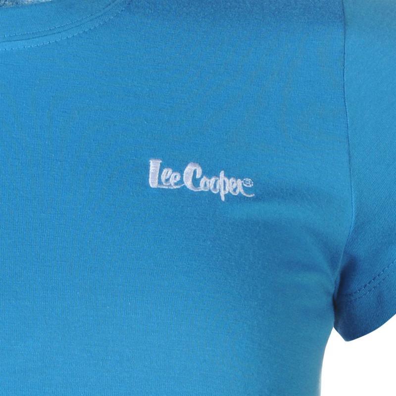 Lee Cooper Crew Neck T Shirt Ladies Turquoise