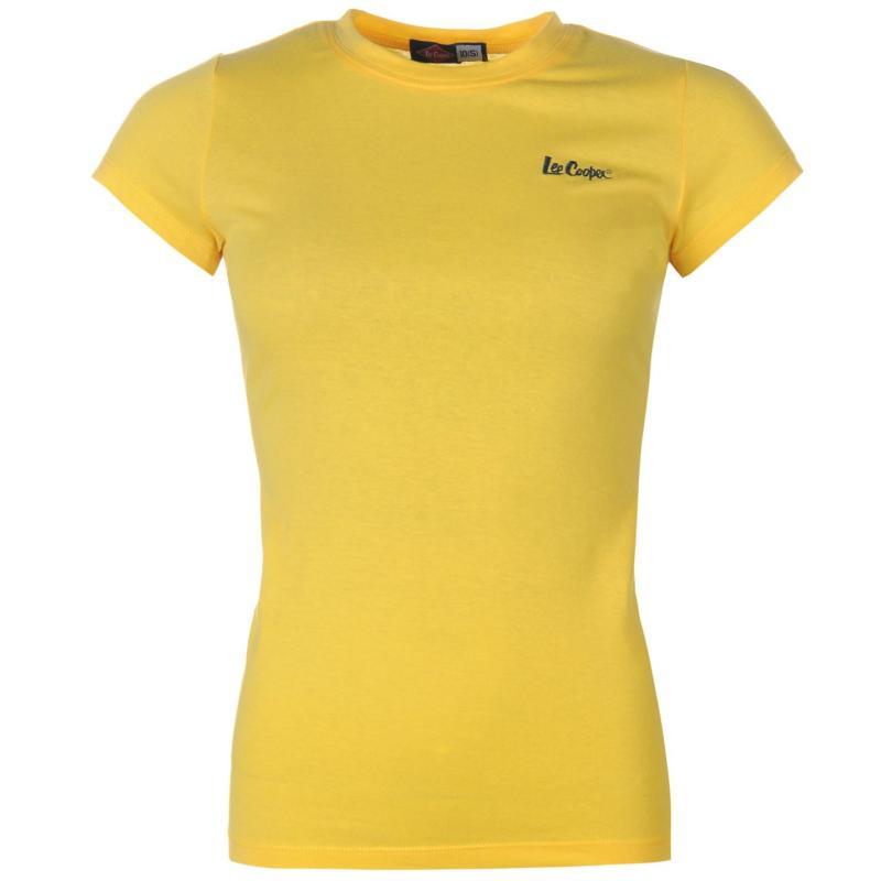 Lee Cooper Crew Neck T Shirt Ladies Yellow