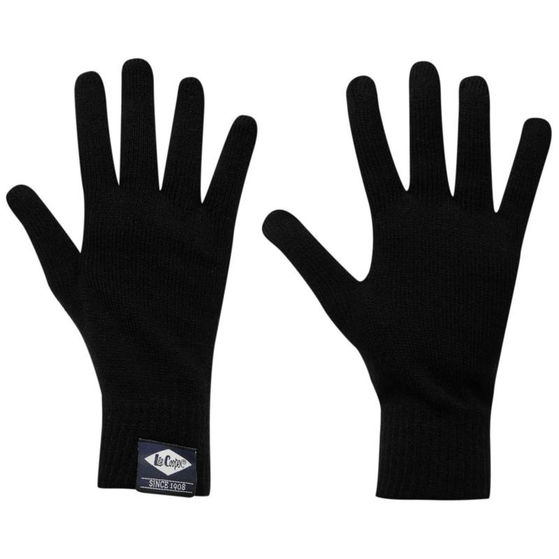 Lee Cooper Knitted Gloves Junior Black
