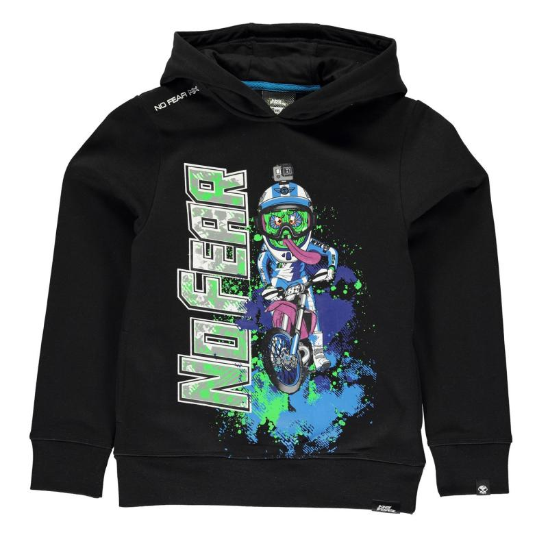 Mikina No Fear Over The Head Hoody Junior Boys Black Monster