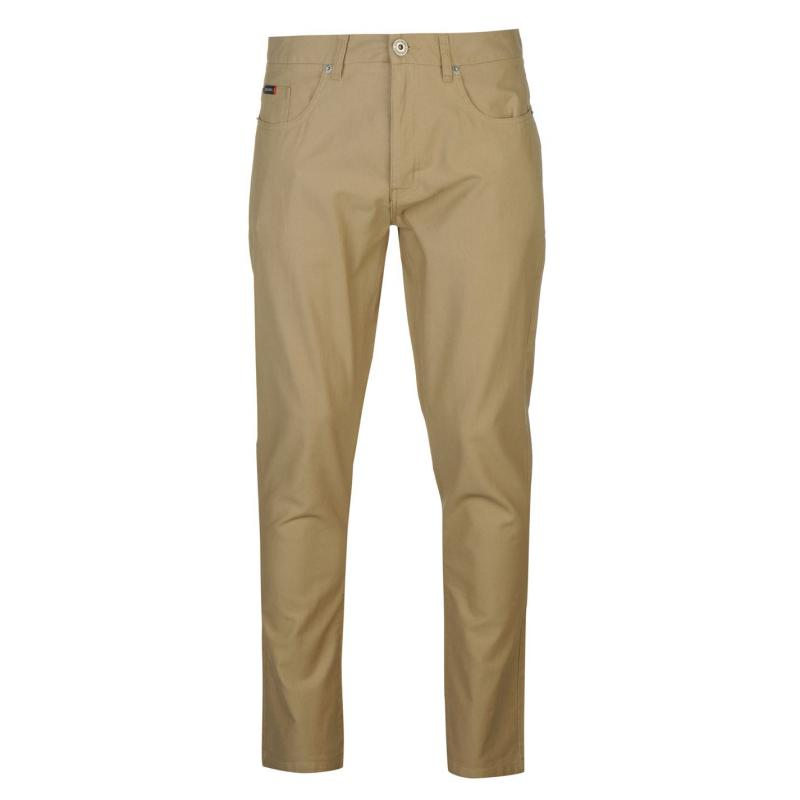 Kalhoty Pierre Cardin Basic Corduroy Casual Trousers Mens Sand