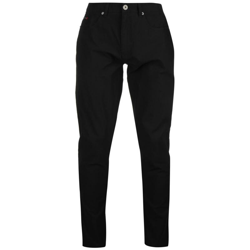 Kalhoty Pierre Cardin Basic Corduroy Casual Trousers Mens Black