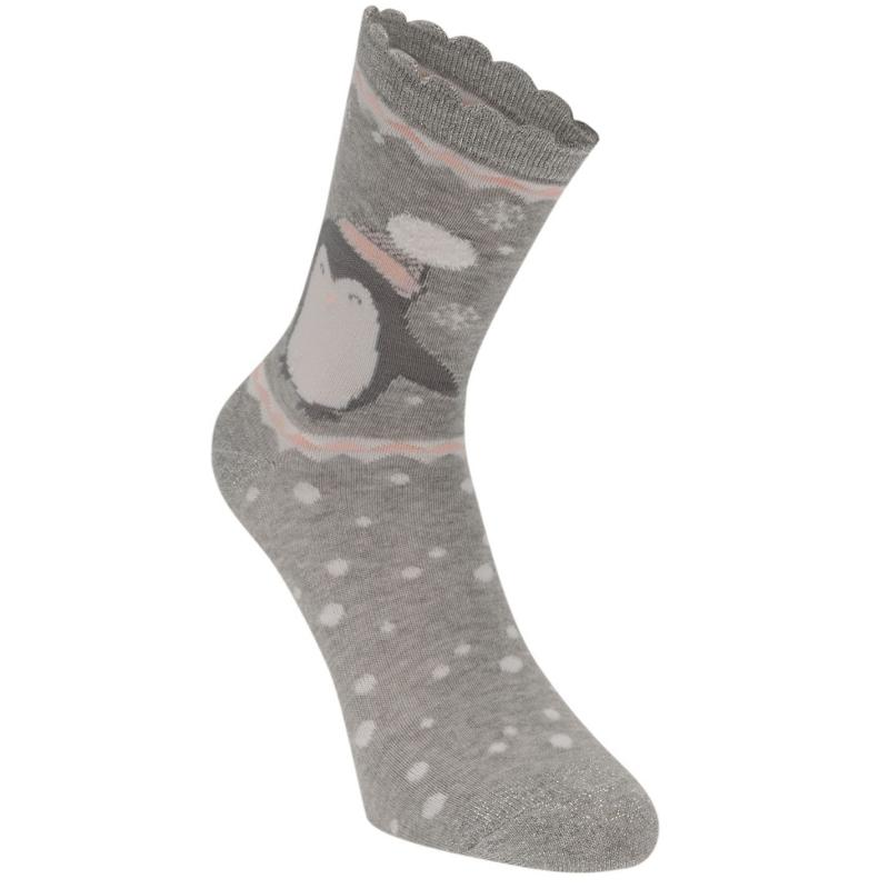 Miso Frill Dress Socks 3 Pack Ladies Pengiun